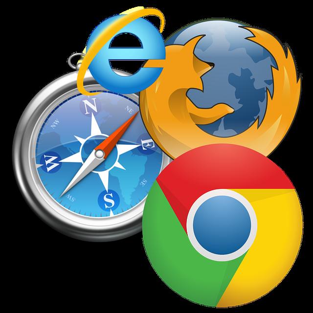 kompas u prohlížečů