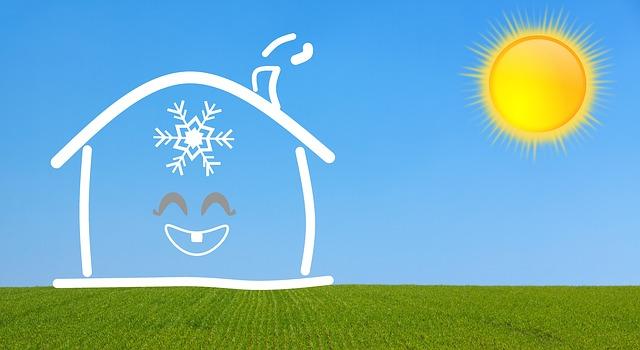 dům a slunce