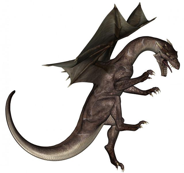 naštvaný drak