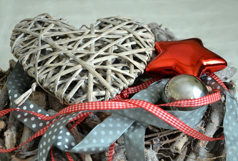 pletená vánoční dekorace