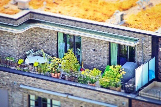 terasa na střeše domu