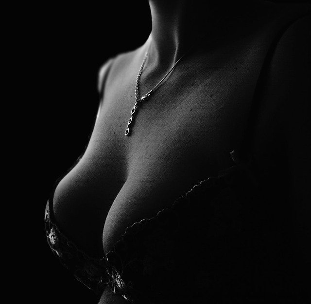 sensual woman in black-and-white